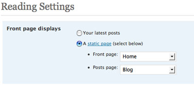 Changing the WordPress settings to use it as a CMS.
